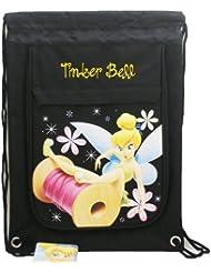Disney TinkerBell Black Drawstring Backpack