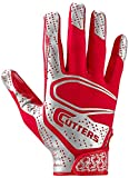 Cutters Rev 2.0 Receiver Gloves, Pair, Youth,LARGE,RED