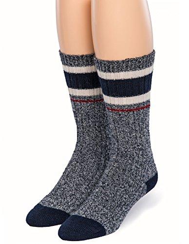 Warrior Alpaca Socks - Unisex, Thermal 60% Alpaca Wool Ragg Socks for Winter & Outdoor Hiking - Old School Athletic