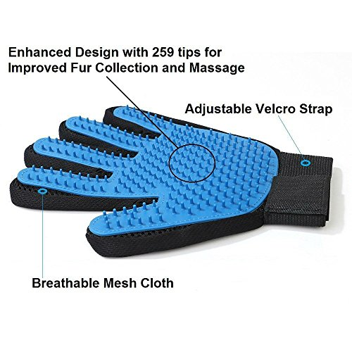 Shed No More (Premium Version) Grooming Glove - Soft & Gentle Deshedding Brush Glove - Efficient Pet Fur Remover Mitt - Enhanced Glove Design - Works Best for Dogs & Cats with Long & Short Fur by Shed No More (Image #3)