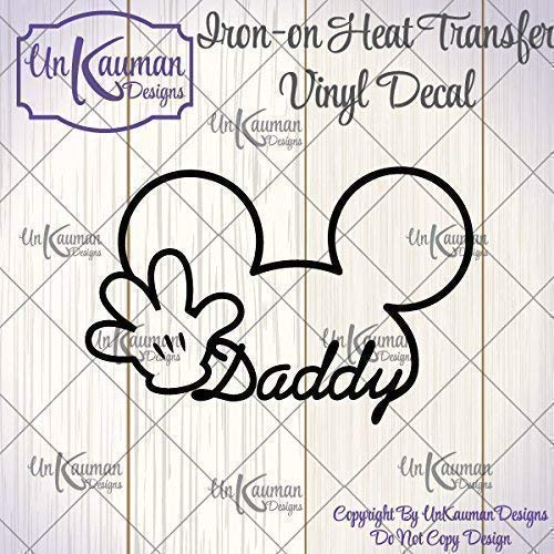 - DIY Personalized Mickey or Minnie Ears 4 Designs to Choose From Iron On Vinyl Decal for Clothing
