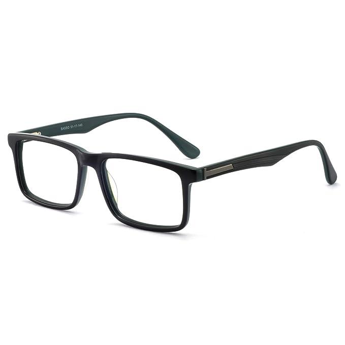 Blue Light Blocking Glasses for Men Black Rectangle Eyewear Men's Fashion Optical Frame best blue-light-blocking glasses for men