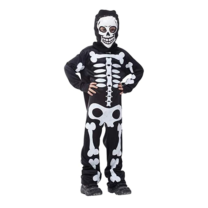 Amosfun Esqueleto Traje Chico Esqueleto Traje Conjunto de ...