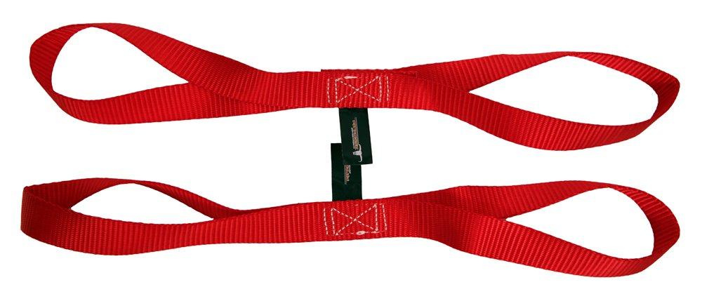 Pit Posse Soft loop tie down straps Secure your Motorcycle//ATV//Dirt bike//Kayak Breaking Strength 18 Nylon Loops Straps Extension Set of 2 Straps RED 4,500 lbs