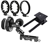 Movo DSLR Filming Bundle with Precision Follow Focus System with Hard Stops, Universal Baseplate System with 15mm Rods