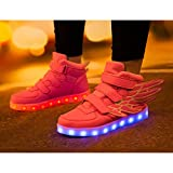 SAGUARO High Top Led Boots Shoes with Wings Boy