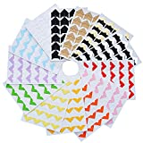 13 Sheets Photo Corners Self Adhesive for DIY Scrapbook, Picture Album, Personal Journal, Dairy and More, Multicolored
