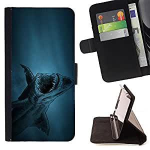 For HTC Desire 626 & 626s akula shark ryba fish Style PU Leather Case Wallet Flip Stand Flap Closure Cover