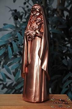 40 - 42 cm, Cobre-colores metal niquelado, MADONNA, Santa María - gran madre de Dios con niño, MADONNA como un símbolo de la inocencia y la puro concepción ...