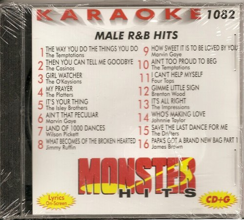 Monster #82 Karaoke CDG MALE 60's R&B Hits (60's Karaoke)