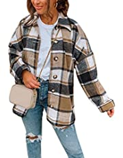 N+A Oversized geruite jas dames hemdjas geruit hemd hemdblouse overgangsjas houten hakkershemd dames blouseshirt casual bovenstuk