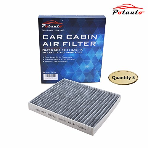 POTAUTO MAP 1039C (5-Pack) Heavy Activated Carbon Car Cabin Air Filter Replacement compatible with CHRYSLER, 200, Cirrus, Sebring, DODGE, Avenger, Caliber, Journey, JEEP, Compass, Patriot