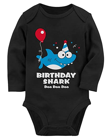 9d1d905b9 Baby Shark Doo doo doo First/2nd Birthday Shark Outfit Baby Long Sleeve  Bodysuit NB