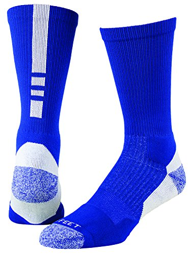 (Pro Feet Men's Shooter 2.0 Team Socks, Royal/White, Large)
