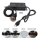 Garbage Disposal Air Switch Dual Outlet Sink Top Waste Disposal On/Off Switch Kit Food and Waste Disposals Part (COPPER CHROME) by Cleesink