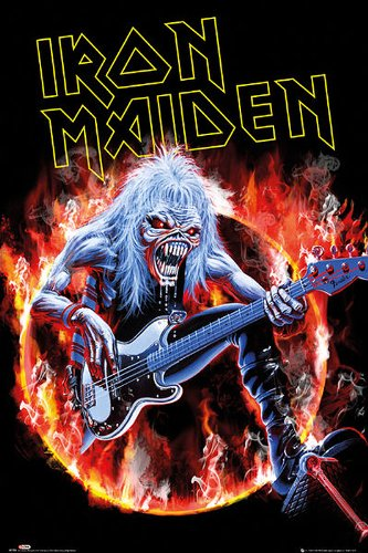 Iron Maiden Poster Fear Live Eddie with Guitar