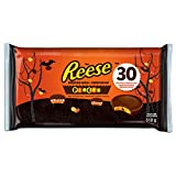 REESE Pieces Peanut Butter Cups, Halloween Chocolate Candy, 30 Count, 510 Gram
