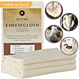 : Cheesecloth, Grade 90, 36 Sq Feet, Reusable, 100% Unbleached Cotton Fabric, Ultra Fine Cheesecloth for Cooking - Nut Milk Bag, Strainer, Filter (4Yards)