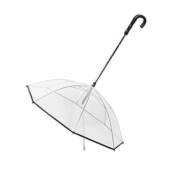 Happyshop18 Paraguas Plegable para Perro, con Correa para Perro, fácil Agarre, Proporciona protección