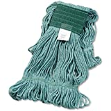 UNISAN Super Loop Wet Mop Head, Cotton/Synthetic, Medium Size, Green (502GN)
