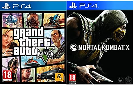 Grand Theft Auto V (GTA V) + Mortal Kombat X - Standard Edition: Amazon.es: Videojuegos