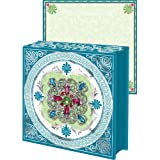Turquoise Pink Brooch Note pad, Jeweled Mini Notepad, Punch Studio, Three, Office Central