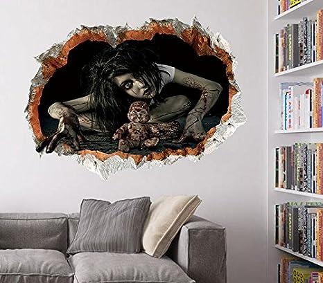 zooarts Halloween fantasma pegatinas de pared extraíble pegatinas de ...