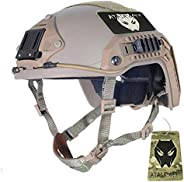 ATAIRSOFT Adjustable Maritime Helmet ABS for Airsoft Paintball (DE,M/L)