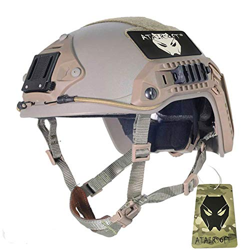 - ATAIRSOFT Adjustable Maritime Helmet ABS for Airsoft Paintball(DE,M/L)