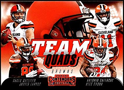 sale retailer 98221 7909d Amazon.com: 2018 Contenders Team Quads Football #TQ-6 ...