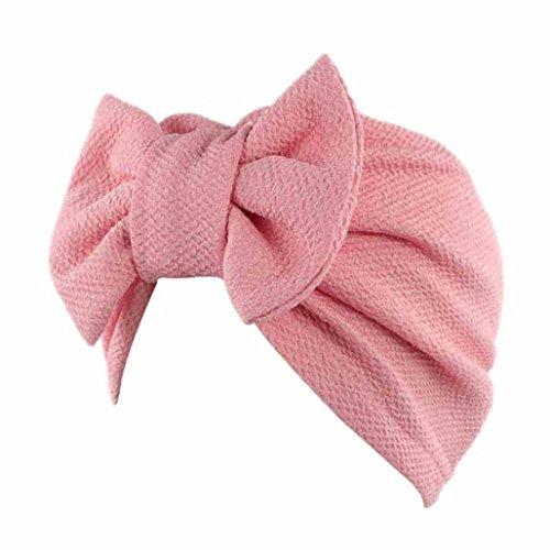 Hot Sale Abbey Cap Beanie Scarf Turban Head Wrap Cap Women Muslim Ruffle Cancer Chemo Hat by Neartime (FREE, Pink)