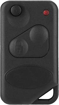 uxcell 2 Button Flip Key Case Fob Uncut Blade Blank for Land Rover Range Rover P38