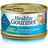 Blue Buffalo Healthy Gourmet Natural Adult Meaty Morsels Wet Cat Food, Chicken 3-oz cans (Pack of 24)