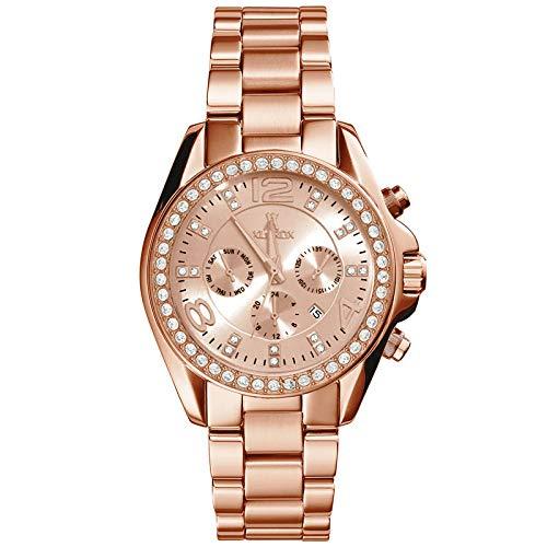 Bevorzugt XLORDX Classic Designer Datum Strass Damenuhr Rosegold Uhr EQ23