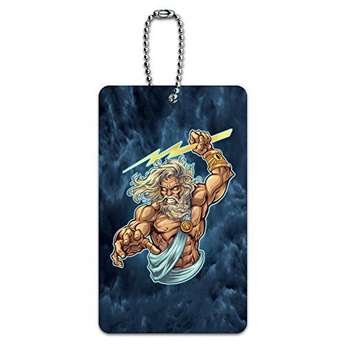 Zeus Greek God Mythology Lightning Luggage Card Suitcase Carry-On ID Tag ()