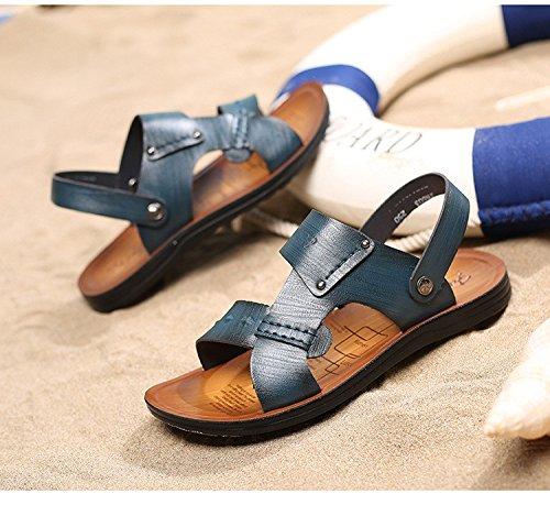 Sandali di estate degli uomini di estate della primavera di estate dei sandali di modo di modo, blu, Regno Unito = 6,5, EU = 40