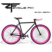 Zycle Fix ZF-BKCH-55 BLACK CHERRY Fixed Gear Bike, 55cm/One Size Frame