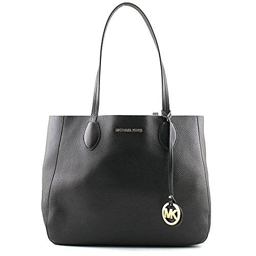 MICHAEL Michael Kors Mae Large East/West Tote Reversible Black/Luggage by MICHAEL Michael Kors