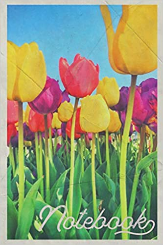 Descarga gratuita Notebook: Amsterdam Tulips Handy Composition Book Journal Diary For Men, Women, Teen & Kids Vintage Retro Design Flower Arrangement Art PDF