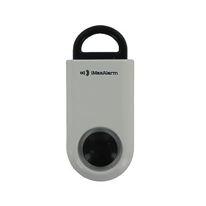 iMaxAlarm SOS Alert Personal Alarm - 130dB Alarm - Safety & Security Emergency Device - White/Black