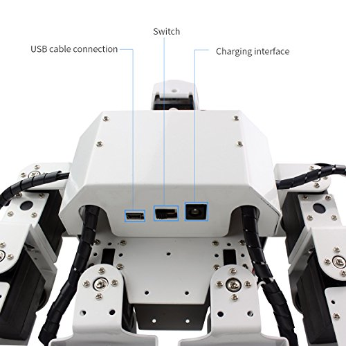 LewanSoul H3S 16DOF Biped Humanoid Robot Kit with Free APP, MP3 Module, Detailed Video Tutorial Support Sing Dance(Assembled) by LewanSoul (Image #4)