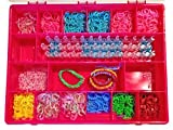 Rainbow Loom Organizer - Perfect Rainbow Loom Storage Box - Fits Thousands Of Rubber Bands And Accessories - Designed To Fit Rainbow Loom Tools - Sturdy Case And Carrying Handle (Strawberry/Pink)