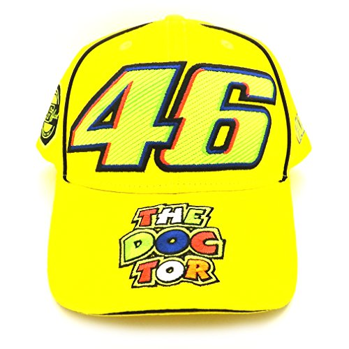 Valentino Rossi VR46 Moto GP 46 The Doctor Yellow Cap Official 2017