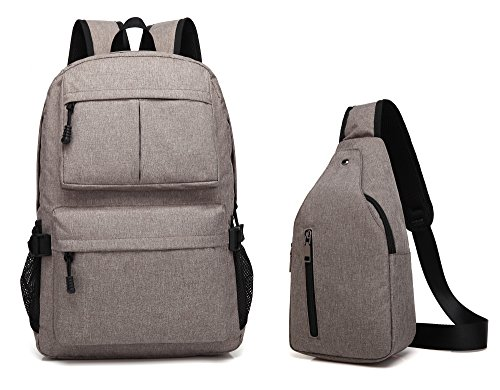 Laptop Backpack Lightweight School College Bag Backpack +Sling Backpack 2 PCS Fits 15.6 inch Laptop