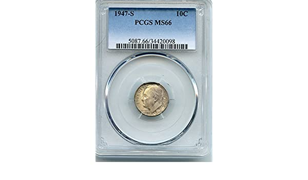 1947 Roosevelt Dime MS66 PCGS 66 Mint State