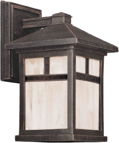 Forte Lighting 1773-01 Craftsman / Mission Outdoor Wall Sconce, Painted Rust -