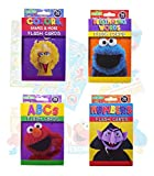 Sesame Street Educational Flash Cards for Early Learning. Set includes Colors, Shapes & More, ABCs, Numbers and Beginning Words.