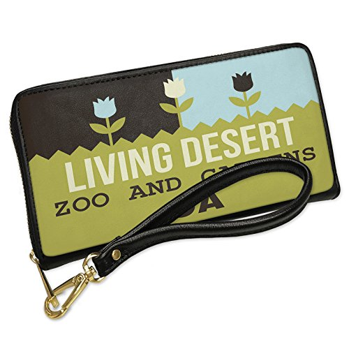 Wallet Clutch US Gardens Living Desert Zoo and Gardens - CA with Removable Wristlet Strap Neonblond