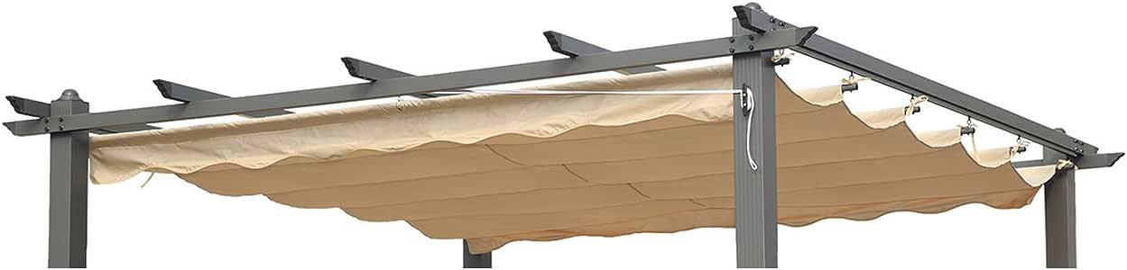 Angel Living Recambio de Top Roof de Poliéster para 3x4M Pérgola, Techo Retráctil a Prueba de Humedad, la Medida de la Lona es 360 x 258 cm (sin el Marco Metal): Amazon.es: