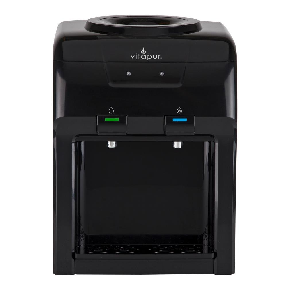 Vitapur Countertop Cold and Room Temperature Water Dispenser in Black
